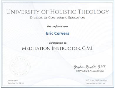 UHT CMI certificate